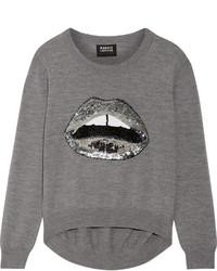 Pull en laine orné gris Markus Lupfer