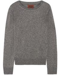 Pull en tricot argenté Missoni