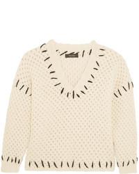 Pull en tricot beige Isabel Marant
