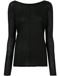 Pull en tricot noir Alexandre Vauthier