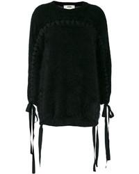 Pull en tricot noir Fendi