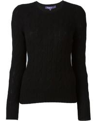 Pull en tricot noir Ralph Lauren