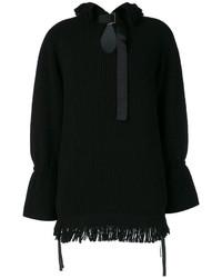 Pull en tricot noir Sacai