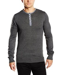 Pull gris foncé CASUAL FRIDAY