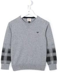 Pull gris Armani Junior