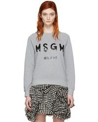 Pull gris MSGM