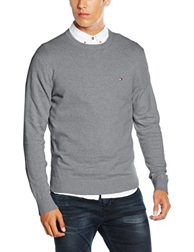 Pull gris Tommy Hilfiger, €96 | Amazon.fr