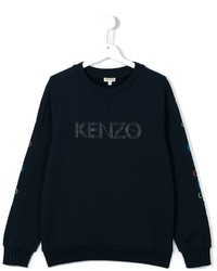 Pull imprimé bleu marine Kenzo
