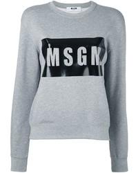 Pull imprimé gris MSGM
