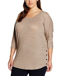 Pull marron clair New Look Curves