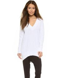 Pull surdimensionné blanc DKNY