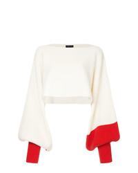 Pull surdimensionné blanc Eudon Choi