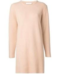 Pull surdimensionné en tricot beige Chloé