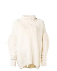 Pull surdimensionné en tricot beige Circus Hotel