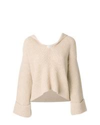Pull surdimensionné en tricot beige Forte Forte
