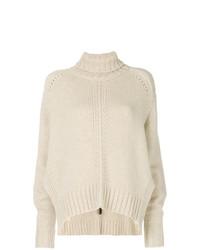 Pull surdimensionné en tricot beige Isabel Marant