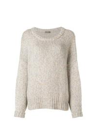Pull surdimensionné en tricot beige N.Peal