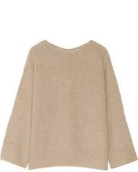 Pull surdimensionné en tricot beige The Row