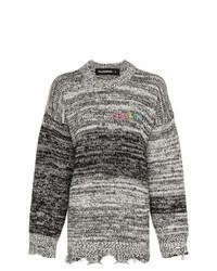 Pull surdimensionné en tricot blanc et noir Filles a papa