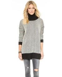 Pull surdimensionné en tricot blanc et noir Glamorous