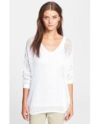 Pull surdimensionné en tricot blanc