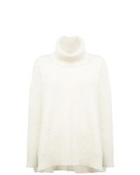 Pull surdimensionné en tricot blanc Adam Lippes