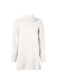 Pull surdimensionné en tricot blanc Blumarine
