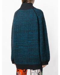 Pull surdimensionné en tricot bleu marine Marc Jacobs