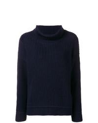 Pull surdimensionné en tricot bleu marine Canada Goose