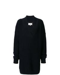 Pull surdimensionné en tricot bleu marine Maison Margiela
