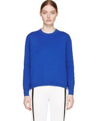 Pull surdimensionné en tricot bleu Edit