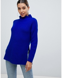 Pull surdimensionné en tricot bleu PrettyLittleThing
