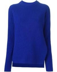 Pull surdimensionné en tricot bleu Proenza Schouler