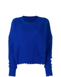 Pull surdimensionné en tricot bleu Unravel Project