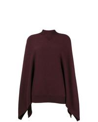 Pull surdimensionné en tricot bordeaux Givenchy