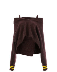 Pull surdimensionné en tricot bordeaux Maison Margiela