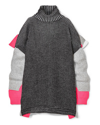 Pull surdimensionné en tricot gris foncé Balenciaga