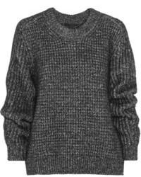 Pull surdimensionné en tricot gris foncé Belstaff