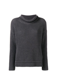 Pull surdimensionné en tricot gris foncé Canada Goose