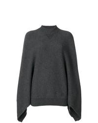 Pull surdimensionné en tricot gris foncé Givenchy
