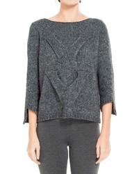 Pull surdimensionné en tricot gris foncé Max Studio