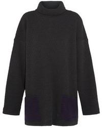 Pull surdimensionné en tricot gris foncé
