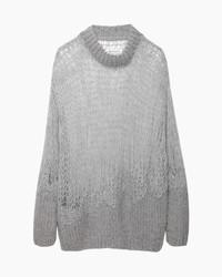 Pull surdimensionné en tricot gris