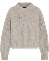 Pull surdimensionné en tricot gris Isabel Marant