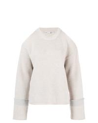Pull surdimensionné en tricot gris Stella McCartney