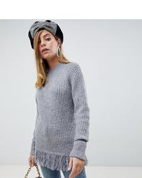 Pull surdimensionné en tricot gris Vero Moda Petite