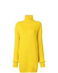 Pull surdimensionné en tricot jaune Maison Margiela