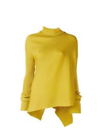 Pull surdimensionné en tricot jaune MARQUES ALMEIDA