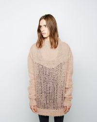Pull surdimensionné en tricot marron clair