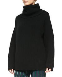 Pull surdimensionné en tricot noir